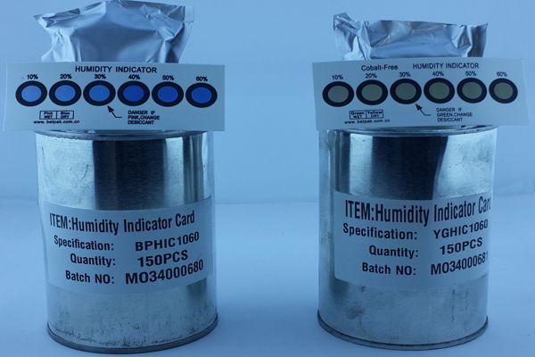 Cobalt Free Moisture Indicator Card